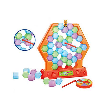 【17mall】蜜蜂疊疊樂拆牆益智桌遊遊戲-拯救小蜜蜂(企鵝破冰同款)
