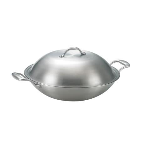 【SanYeh三葉】頂級健康概念養生38cm雙耳美式平炒鍋(採用高級316醫療級不鏽鋼)