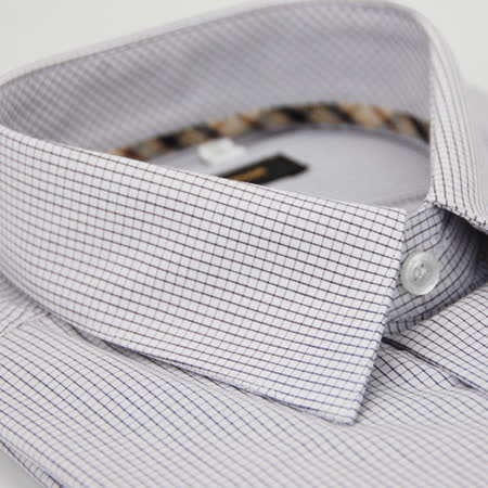 【金安德森】經典格紋繞領黑色格紋長袖襯衫