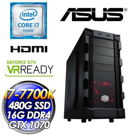 ASUS華碩Z270 火靈II(I7-7700K/DUAL-GTX1070-O8G-GAMING/480G SSD/16G D4 2400/650W大供電)電競主機