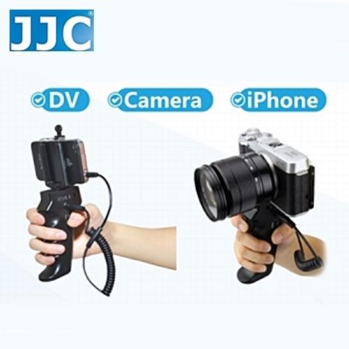 JJC槍把握把手柄快門線遙控器相容富士Fujifilm原廠RR-90快門線HR+Cable-R(可換線設計給不同品牌相機)