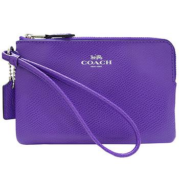 COACH 馬車Logo防刮皮革L型手拿包(共6色)