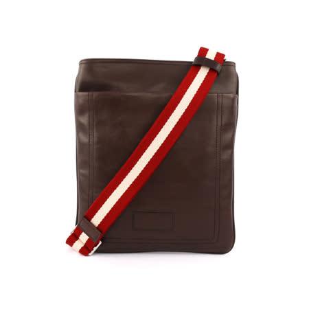 【BALLY】牛皮扁斜背包(巧克力色)