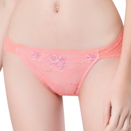 【思薇爾】撩波系列M-XXL蕾絲低腰三角內褲(蔓玫橘)