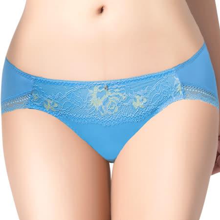 【思薇爾】撩波系列M-XL蕾絲低腰三角內褲(水瓶藍)