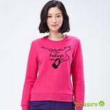 bossini女裝-印花運動衫22亮桃紅