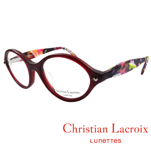 Christian Lacroix 浪漫極簡風格眼鏡 復古紅 CL1011-221