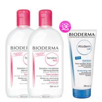 BIODERMA法國貝德瑪 舒妍 高效潔膚液超值雙件加量組(買2送1)