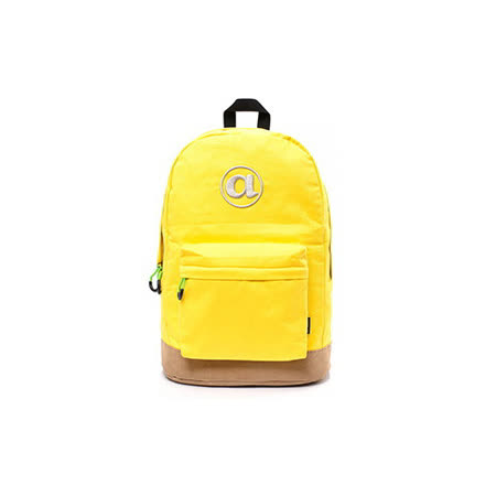 AIRWALK  頑色糖果系列純色筆電後背包  黃色