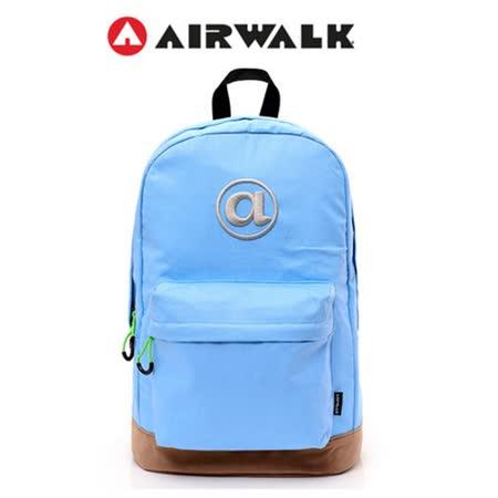 AIRWALK  頑色糖果系列純色筆電後背包  淺藍
