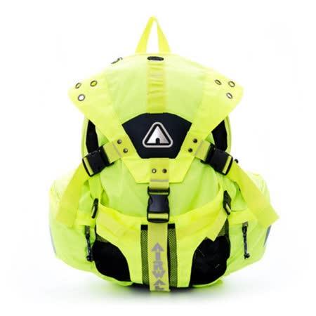 AIRWALK  美式繽紛三叉扣後背包  美式黃