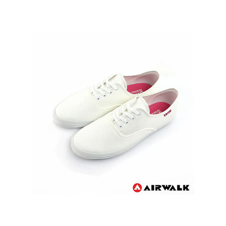 AIRWALK(女)-美式帆布鞋SWEET繽紛輕柔感純棉帆布鞋-米白