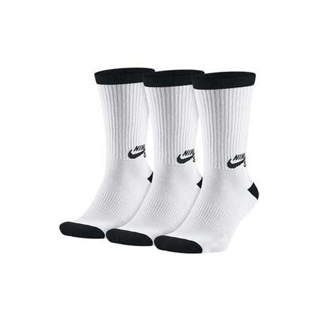 (男女) NIKE SB 長筒襪-3雙入 襪子 長襪 滑板 白黑