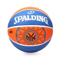 SPALDING 尼克 KNICKS-戶外 NBA 隊徽球 斯伯丁籃球 橘藍 F