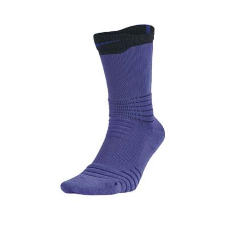 (男) NIKE BASKETBALL菁英籃球長襪-長筒襪 襪子 紫黑