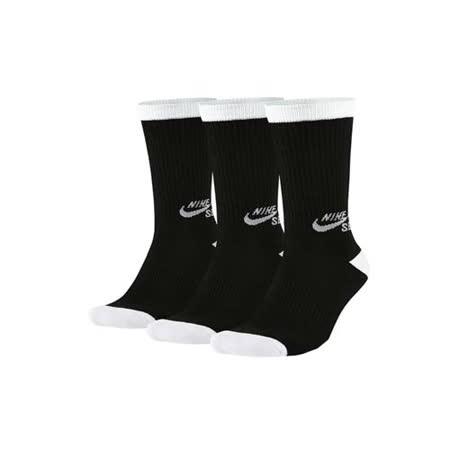 (男女) NIKE SB 長筒襪-3雙入 襪子 長襪 滑板 黑白
