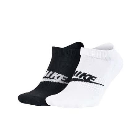 (男女) NIKE NSW FUTURA -2雙入 慢跑 襪子 短襪 黑白 M