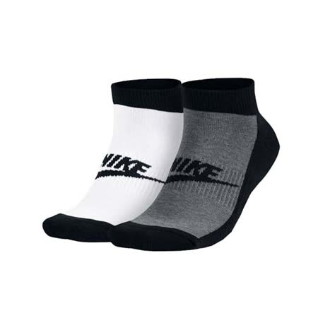(男女) NIKE NSW FUTURA -2雙入 慢跑 襪子 短襪 白黑灰