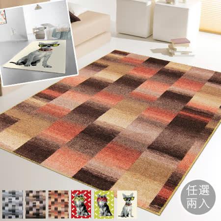 范登伯格 任選超值地毯(兩入組)