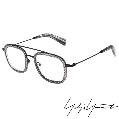 Yohji Yamamoto 山本耀司 方型 前衛光學眼鏡~透明灰~YY1026~950