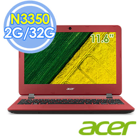 Acer ES1-132-C1MZ 11.6吋/N3350 雙核 筆電–送保暖袖毯