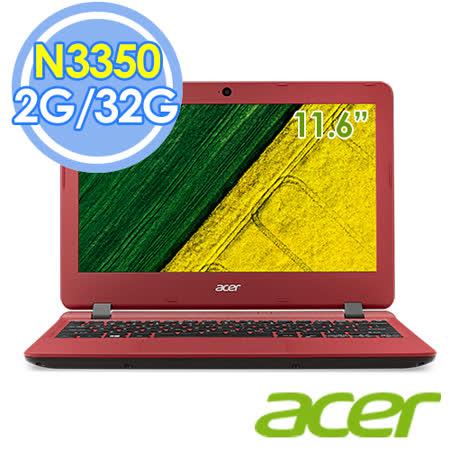 Acer ES1-132-C1MZ 11.6吋 N3350 雙核 Win 10筆電–送保暖袖毯