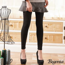 【Begonia】荷葉擺拼接彈力褲裙(共二色)