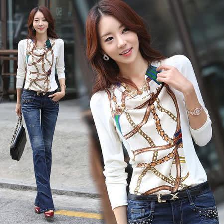 《韓國K.W.》(在台現貨)藤蔓刺繡上衣