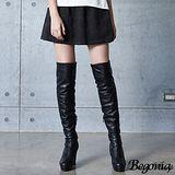 【Begonia】刺繡口袋後鬆緊短裙(共二色)