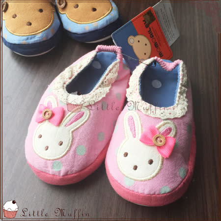 韓國 WINGHOUSE 軟底幼稚園地板鞋 膠底好穿防滑 家居鞋 粉色兔子款 原裝進口