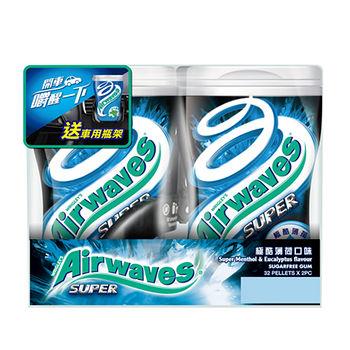 Airwaves-2入嗆涼薄荷口味(車用瓶促銷包)