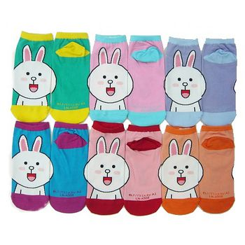 LINE 童直版襪-兔兔(22~24cm)