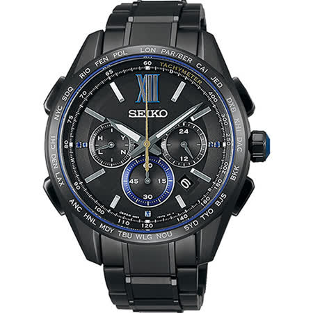 SEIKO 精工 Brightz 135週年限量時尚鈦計時太陽能電波腕錶/44mm/8B92-0AR0SD