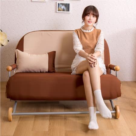 【AS】咖啡土司多功能雙人沙發床
