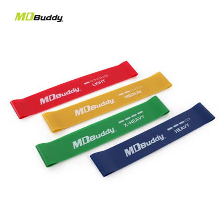 MDBuddy 環狀乳膠彈力帶組-有氧 塑身 健身 彈力帶 隨機 F