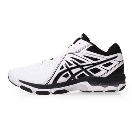 (男) ASICS GEL-NETBURNER 排羽球鞋-排球鞋 羽球 亞瑟士 白黑