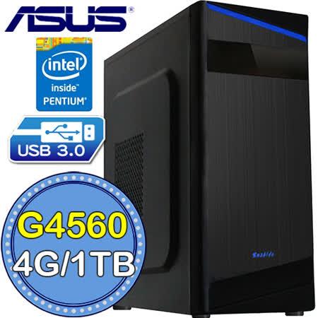 華碩H110平台【雙聯突擊】Intel第七代G系列雙核 1TB效能電腦
