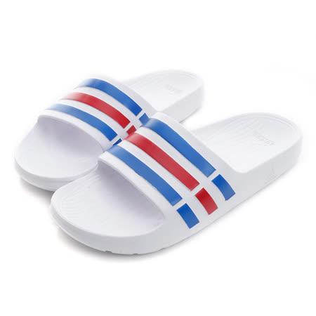 Adidas (男/女) 拖鞋 白藍紅 U43664