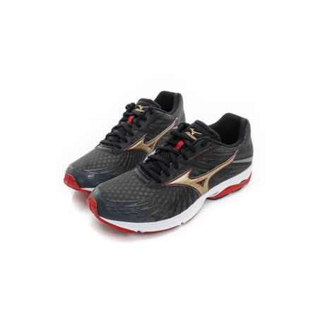 MIZUNO (男) 慢跑鞋 黑金 J1GC163050