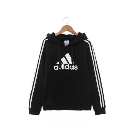 Adidas (女) 連帽T(長) 黑 AZ4847