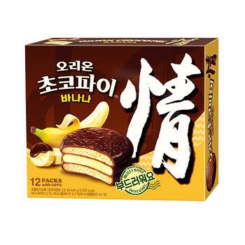 好麗友情香蕉巧克力派444g