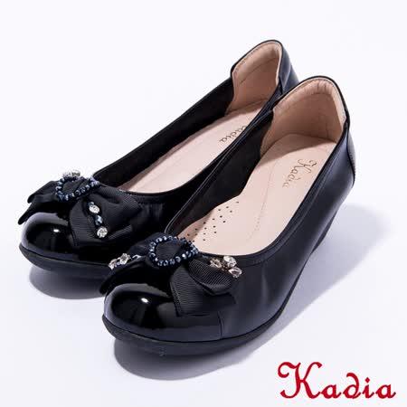 Kadia.氣質款蝴蝶結娃娃鞋(黑色)