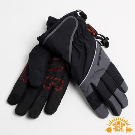 SNOWTRAVEL 英國SKI-DRI 防水透氣超薄型手套(可觸控)(黑色)