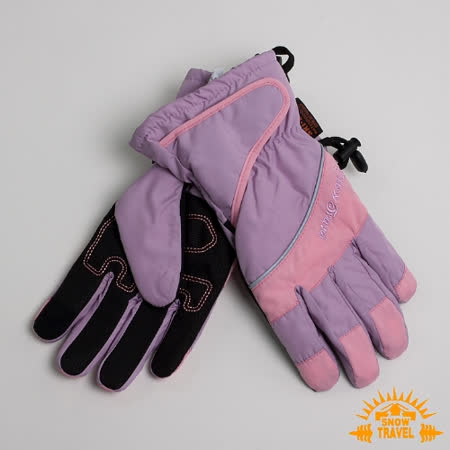SNOWTRAVEL 英國SKI-DRI 防水透氣超薄型手套(可觸控)(粉紅)