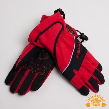 SNOWTRAVEL 英國SKI-DRI 防水透氣超薄型手套(可觸控)(紅色)