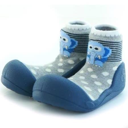 Attipas襪型學步鞋[真品平輸]-灰藍大象
