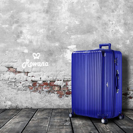 Rowana 極致經典數位秤重彈簧輪拉鍊行李箱 28吋(閃耀藍)