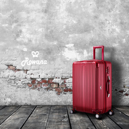 Rowana 極致經典數位秤重彈簧輪拉鍊行李箱 24吋(尊爵紅)
