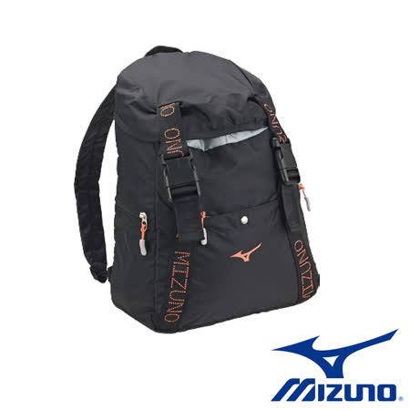 Mizuno 美津濃 超輕量防潑水後背包(黑) D3TD720009