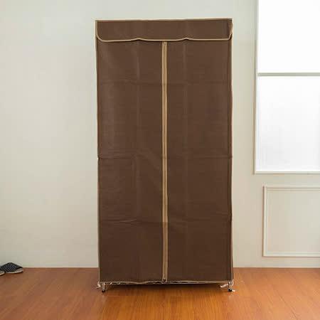 dayneeds 衣櫥專用防塵布套-咖(90*45*180cm)